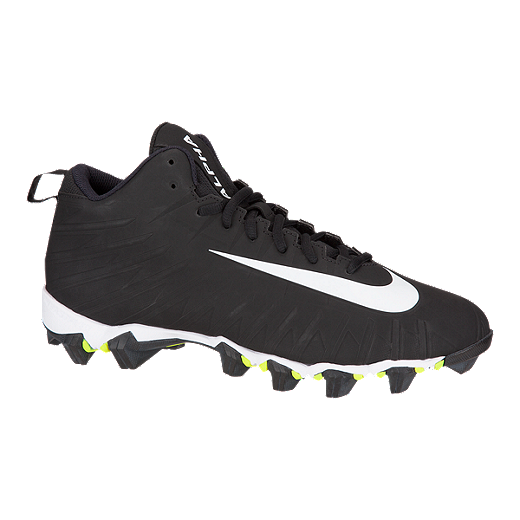 6afa92156 Nike Men s Alpha Menace Shark Mid Football Cleats - Black White ...