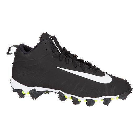lo mismo Procesando Experimentar  Nike Men's Alpha Menace Shark Mid Football Cleats - Black/White ...
