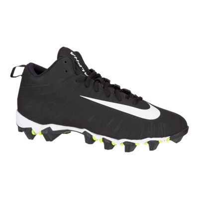 Nike Men's Alpha Menace Shark Mid Football Cleats - Black/White