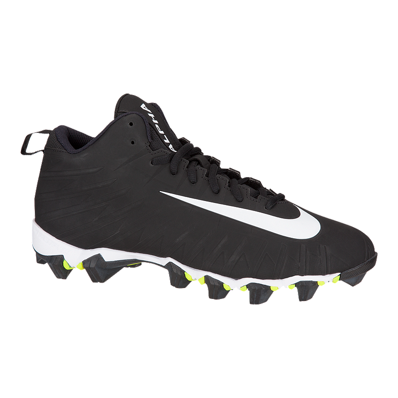 c4d1efcf800673 Nike Men s Alpha Menace Shark Mid Football Cleats - Black White ...