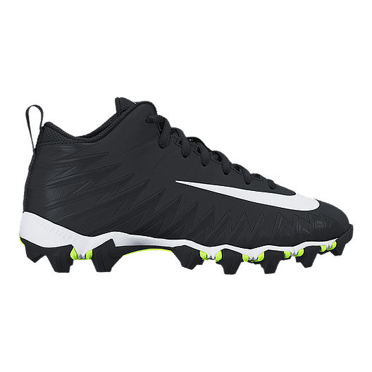 d5e0047cb Nike Kids' Alpha Menace Shark Grade School Football Cleats - Black/White |  Sport Chek