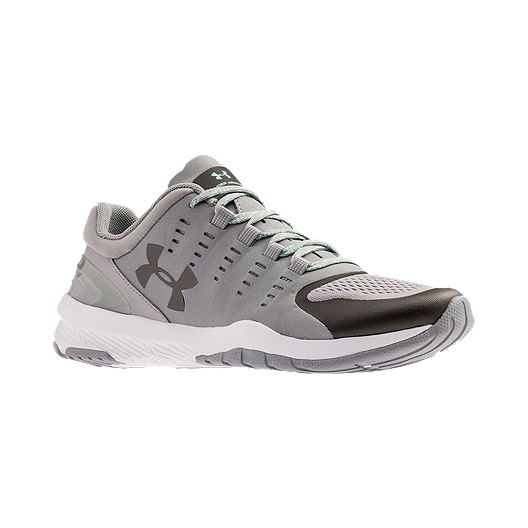837f5bb43f8e Under Armour Women s Charged Stunner Training Shoes - Grey White ...