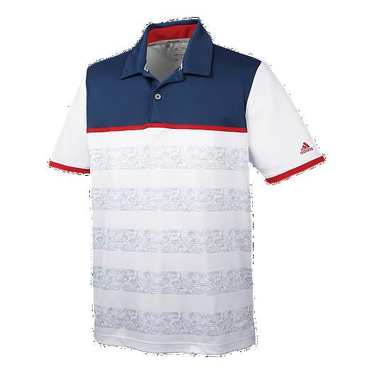 0f6e76f3 adidas Golf Men's climacool® 2D Cam Stripe Polo | Sport Chek