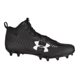 Under Armour Men's Nitro Select Mid-Cut Football Cleats - Black