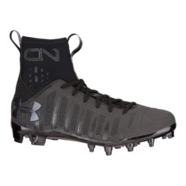 Under Armour Men's C1N Mid Football Cleats - Black