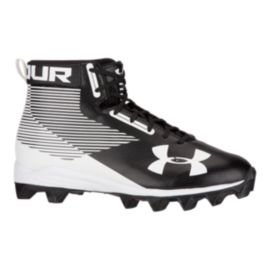 Under Armour Men's Hammer RM Mid Football Cleats - Black/White
