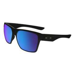 Oakley Two Face XL Polarized Sunglasses- Matte Black with Sapphire Iridium  Lenses  f42d01eb6ea73
