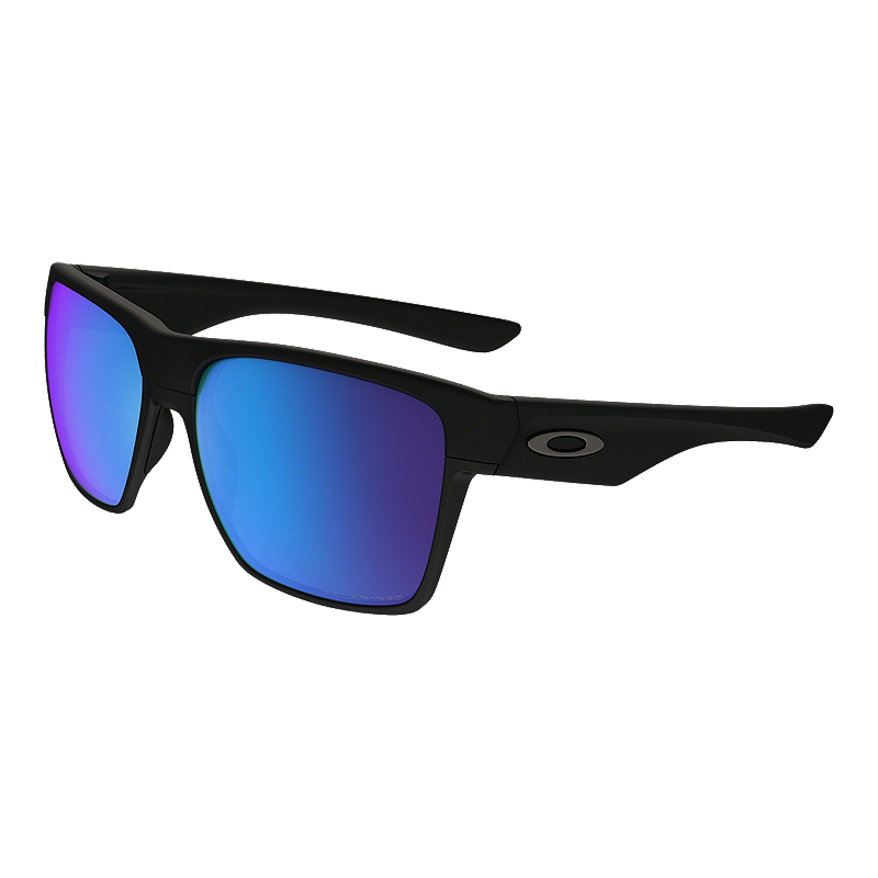 ca680d441e1 Oakley Two Face XL Polarized Sunglasses- Matte Black with Sapphire Iridium  Lenses