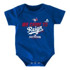 Toronto Blue Jays We Came To Reign Baby Onesie Bodysuit