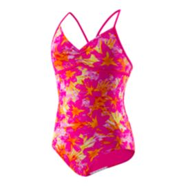 Speedo Girls' Jungle Floral One Piece Swimsuit