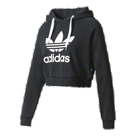 edc2b205 adidas Women's Originals Crop Pullover Hoodie | Sport Chek