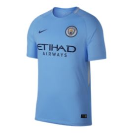 Manchester City FC 2017/18 Nike Men's Home Stadium Jersey
