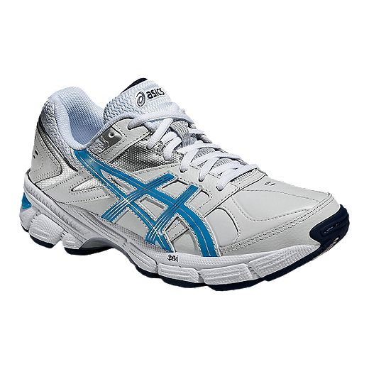 frecuentemente Viaje Respiración  ASICS Women's Gel 190 TR Leather Training Shoes - White/Blue | Sport Chek