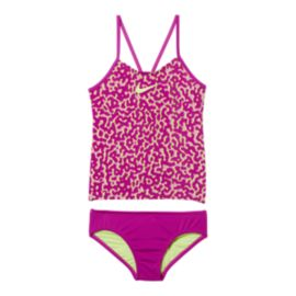 Nike Swim Girls' Glow V-Back 2 Piece Tankini