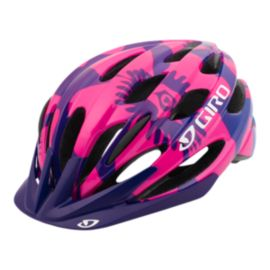 Giro Raze Junior Berry Blue Flowers  Bike Helmet