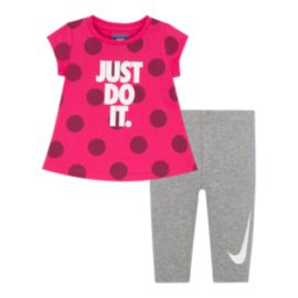 Nike Baby Girls' Just Do It Tunic & Capri 2 Piece Set
