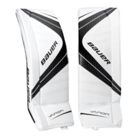Bauer Vapor X700 Junior Goalie Pads - White/Black