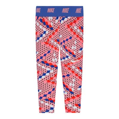 Nike Girls' 4-6X Dri-FIT™ Sport Essentials All Over Print Capri Pants