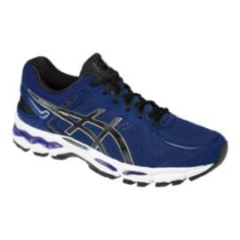 ASICS Men's Gel Kayano 22 Running Shoes - Blue/Black/White