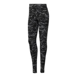 Reebok Women's Cotton Crackle All Over Print Tights