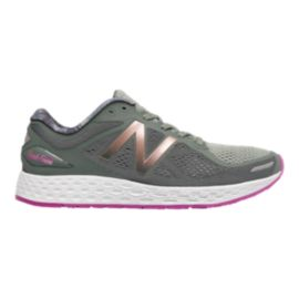New Balance Women's Fresh Foam Zante v2 Running Shoes - Grey/Pink