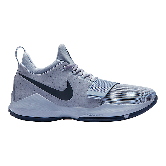 7571ec60731a Nike Men s PG 1 Basketball Shoes - Glacier Grey Navy