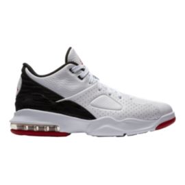 Nike Men's Jordan Franchise Basketball Shoes - White/Red/Black