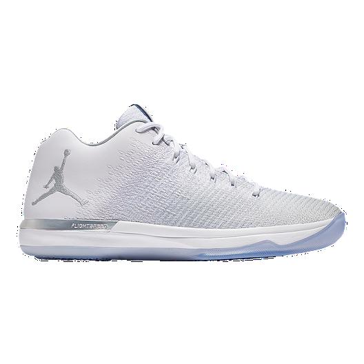 innovative design 65e97 4ef44 Nike Men's Jordan XXXI Low Basketball Shoes - White/Platinum ...