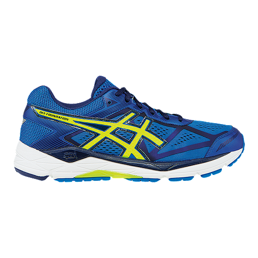 c0abf14b474b ASICS Men s Gel Foundation 12 Running Shoes - Blue Flash Green ...
