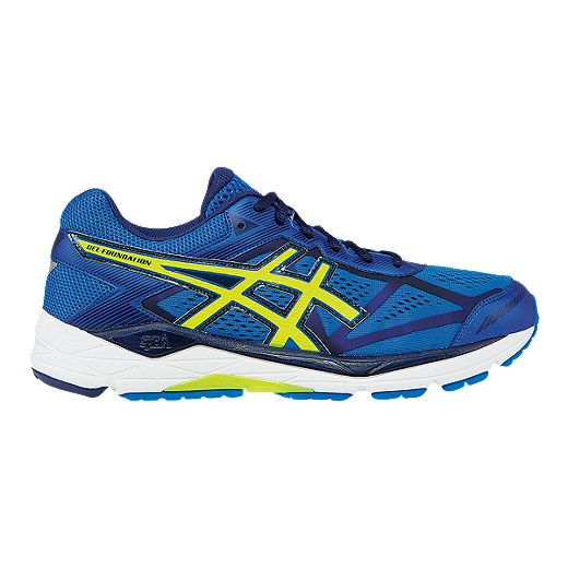 Entender bulto como eso  ASICS Men's Gel Foundation 12 Running Shoes - Blue/Flash Green | Sport Chek
