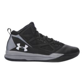 Under Armour Men's Jet Mid Basketball Shoes - Black/Silver