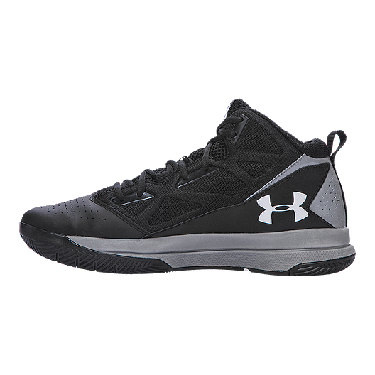 011957ef Under Armour Men's Jet Mid Basketball Shoes - Black/Silver | Sport Chek