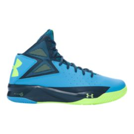Under Armour Men's Rocket Basketball Shoes - Teal/Blue/Lime