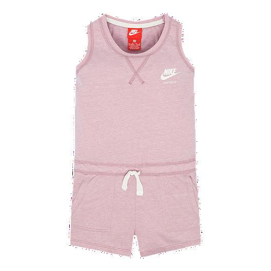fb0fdef732b2 Nike Girls  4-6X Gym Vintage 1 Piece Romper Set