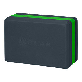 Gaiam Yoga Block - Black/Green