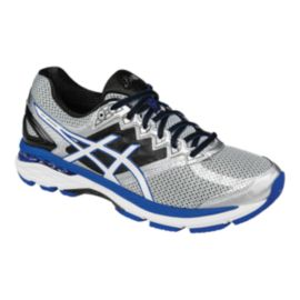 ASICS Men's GT-2000 4 Running Shoes - Silver/Black/Blue