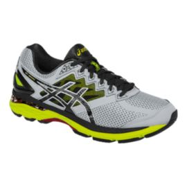 ASICS Men's GT-2000 4 Running Shoes - Grey/Black/Lime Green
