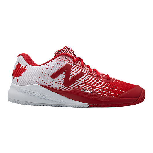 more photos 3a25c 62ecd New Balance Men s 996v3 D Tennis Shoes - Red White   Sport Chek