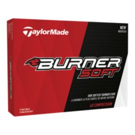 TaylorMade Burner Soft Golf Balls - White 12 Pack