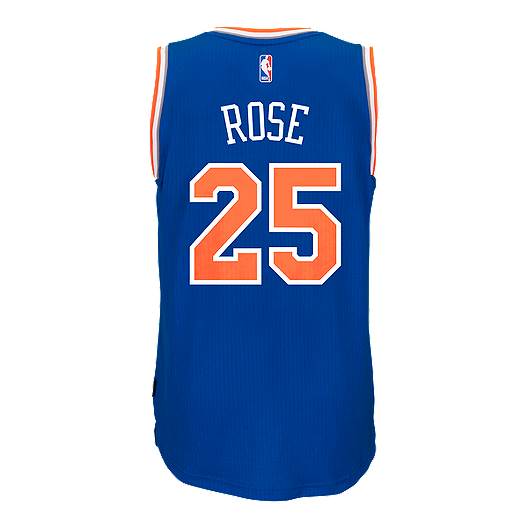 reputable site b160a 8b7fc New York Knicks Derrick Rose Swingman Basketball Jersey ...