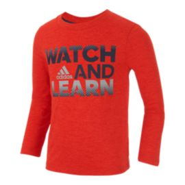 adidas Boys' 4-7 Watch & Learn Shirt