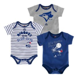 Toronto Blue Jays Baby Homerun Creeper Set - 3-Pack