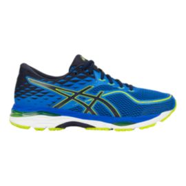 ASICS Men's Gel Cumulus 19 Running Shoes - Blue/Black/Lime Green