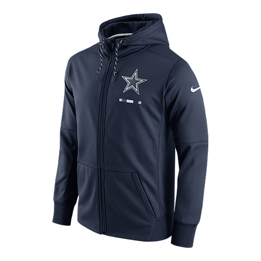 best sneakers da486 2dc54 Dallas Cowboys Nike Therma Full Zip Hoodie