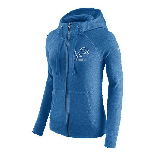 promo code d4703 6f03d Detroit Lions Nike Women's Gym Vintage Full Zip Hoodie