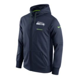 Seattle Seahawks Nike Therma Full Zip Hoodie