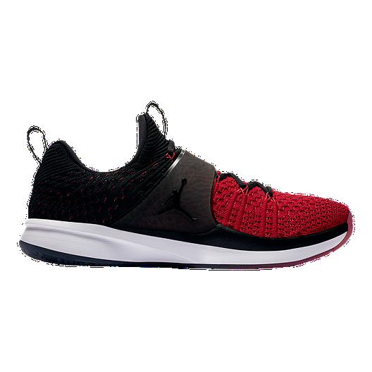 43c192f12381 Nike Men s Jordan Trainer 2 Flyknit Training Shoes - Red Black ...