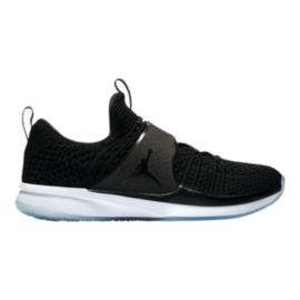 Nike Men's Jordan Trainer 2 Flyknit Training Shoes - Black/White