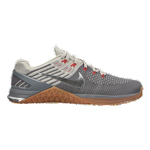 e632c1c43ea1 Nike Men s Metcon DSX Flyknit Training Shoes - Grey Gum Brown ...
