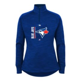 Toronto Blue Jays Girls' Authentic Collection Team Icon 1/4 Zip Fleece